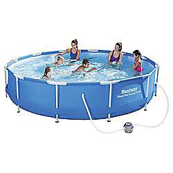 Bestway 12ft Steel Pro™ Frame Pool Set with pump (6,473L) £78 + £7.95 del @ Tesco Direct
