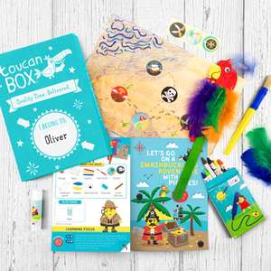 10,000 FREE £5.95 Kids Craft Pack Treasure Island or Jellyfish Racers box (£1 P&P) @Toucan Box