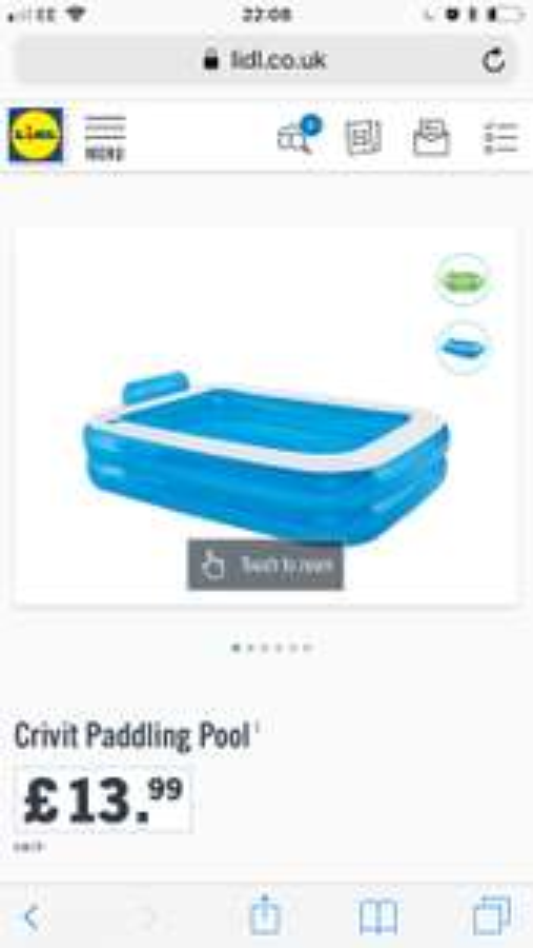 Lidl - Crivit  paddling pool - £13.99