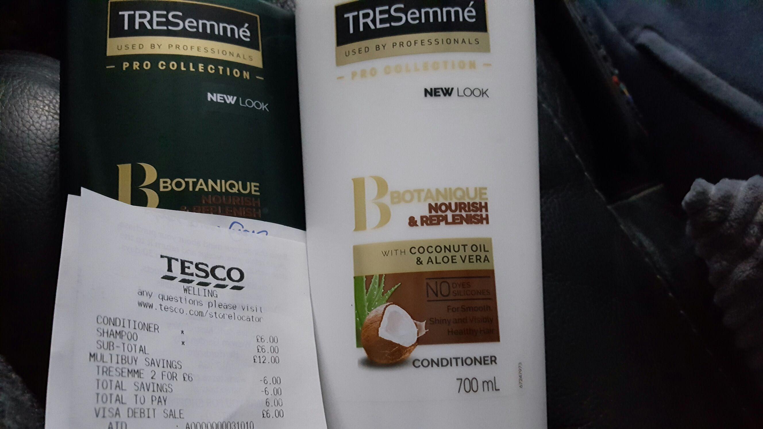 Tresemme shampoo/conditioner 700ml - 2 bottles for £6 instore @ Tesco