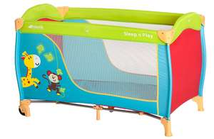 Hauck Sleep-n-Play Go Travel Cot with folding mattress, 120 x 60cm, Jungle Fun from Hauck £34.40 - dispatched and sold from amazon