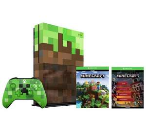 Xbox One S 1TB Minecraft Limited Edition Console Bundle + Gears of War 4 - £229.99 Argos