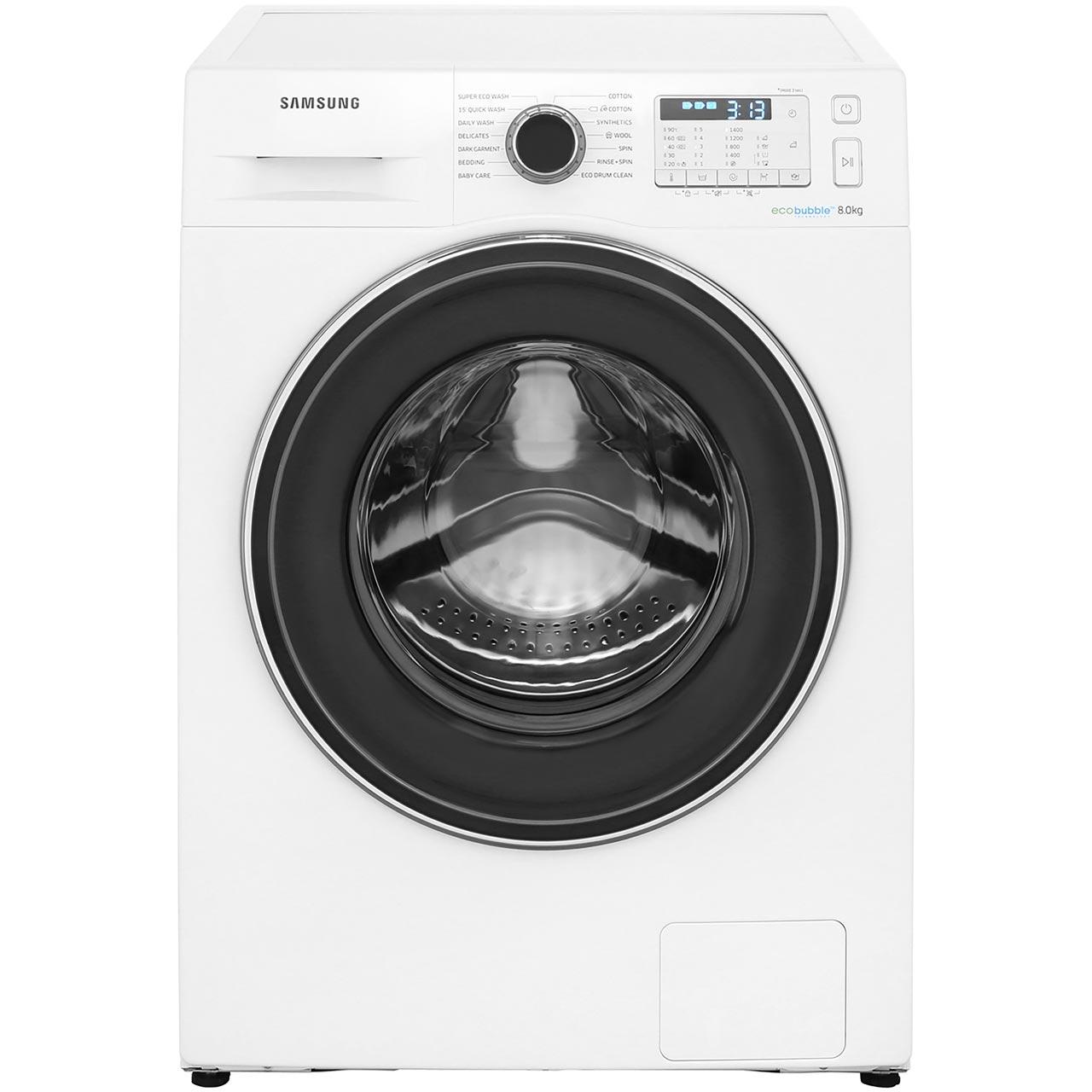 Ao.com - Samsung 8kg ecobubble washing machine £359 with code plus 5 year warranty