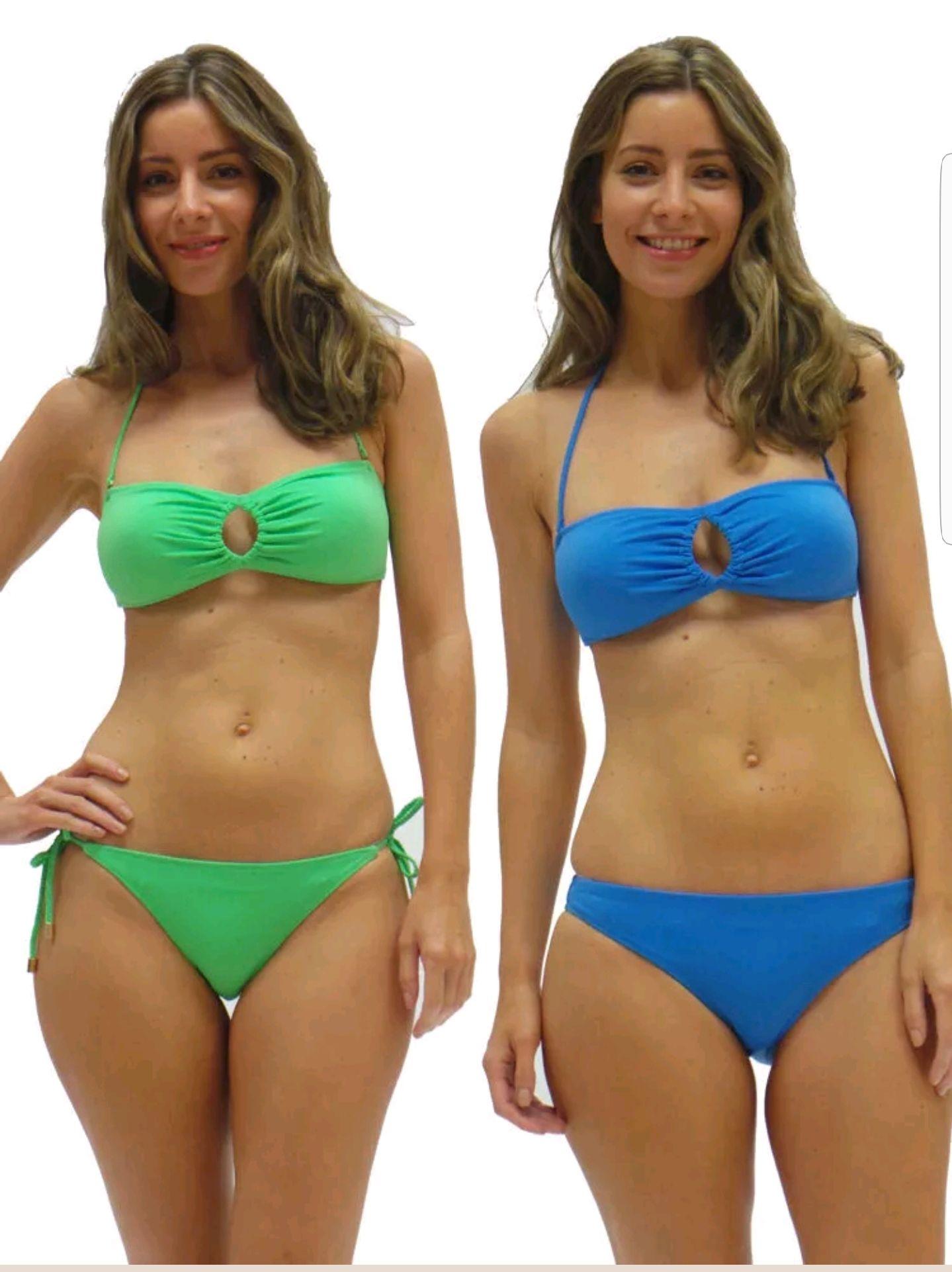 Audelle Lepel Bikini Set Soft Cup Bandeau Strapless Top Bottoms Tie Side Brief £2.99 ebay /  lingerieoutletstore