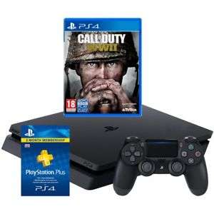 PS4 500GB + COD WWII + Fifa 18 + 3 Months PS Plus £224.10 / Xbox One X + Far Cry 5 £368.10 or Xbox One X + Sea Of Thieves or Forza 7 £377.10  @ AO eBay