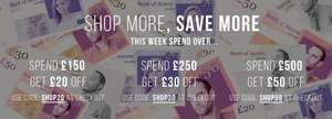 £20 off £150 / £30 off £250 / £50 off £500 Spend on Fashion with code @ Accent clothing