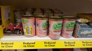 John West Wild Pacific Pink Salmon 418g reduced to 68p in-store @ Tesco, Bramley