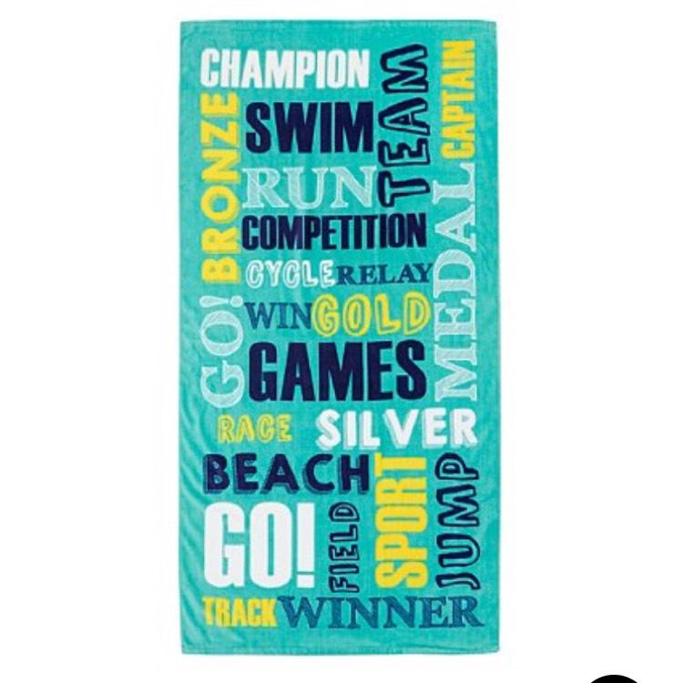 George Home Olympic Words Beach Towel £1.25 Asda (free c&c)