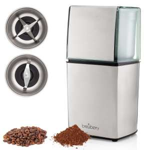 Brewberry Elite Series Coffee Grinder With 2 Stainless Steel Attachments + 2 Yr Warranty £19.75 Del w/code at Amazon - Sold by Five Star and Fulfilled by Amazon