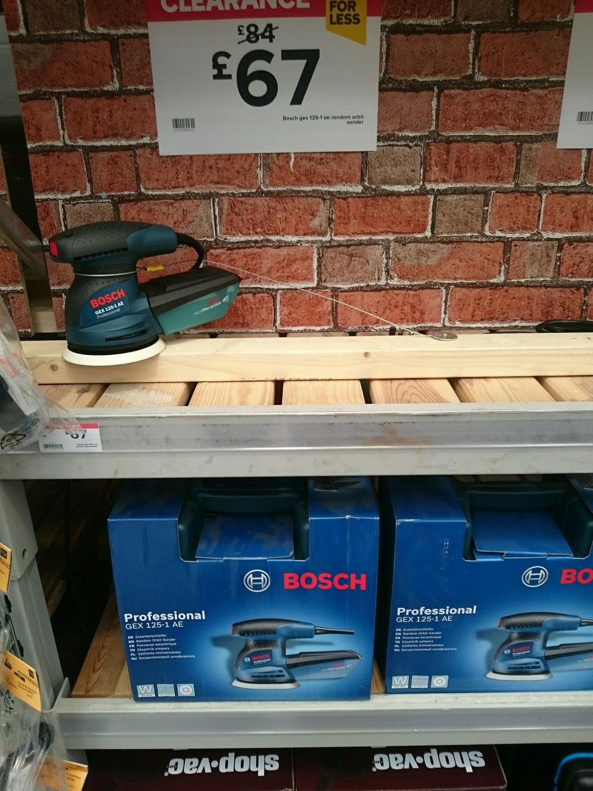 Bosch GEX 125-1 AE £67 B&Q Holywood exchange Belfast