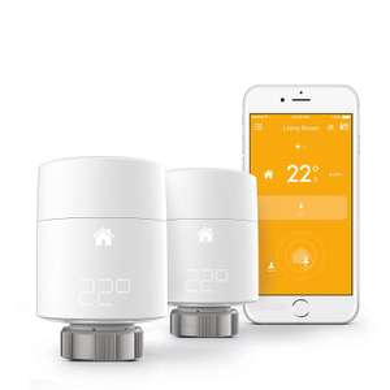 Smart Radiator Thermostat Starter Kit - vertical mounting - £138 @ Amazon