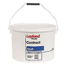 Leyland Trade contract Matt emulsion paint-  10 Litres brilliant white \ magnolia now £13.59 @ Screwfix