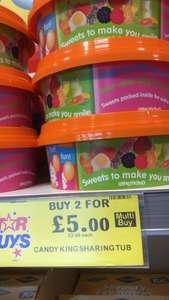 Candy King Sharing Tub 840g - two for £5 instore @ Home bargains (Stevenage)