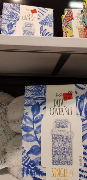 £1 Very nice blue & white design single bedspreads from primark instore
