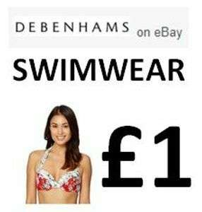 Swimwear from £1 @ Debenhams eBay Store