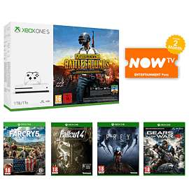 Xbox One S 1TB with PUBG + Far Cry 5 + Fallout 4 +Prey + Gears of War 4 +NOW TV 2 Months Entertainment Pass = £229.99 @ Game