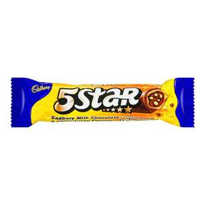CADBURY 5 STAR CHOCOLATE BAR 48.5G  20p @ Poundstretcher