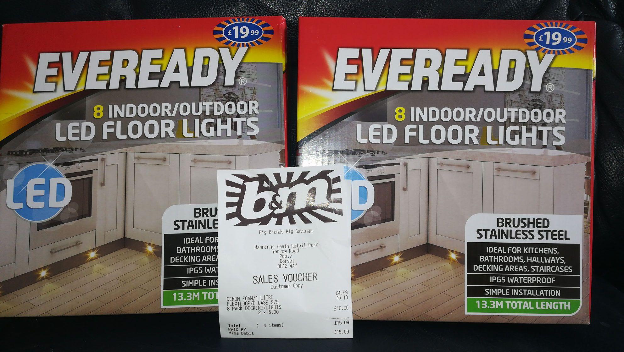 Led floor lights/decking lights £5 instore @ B&M