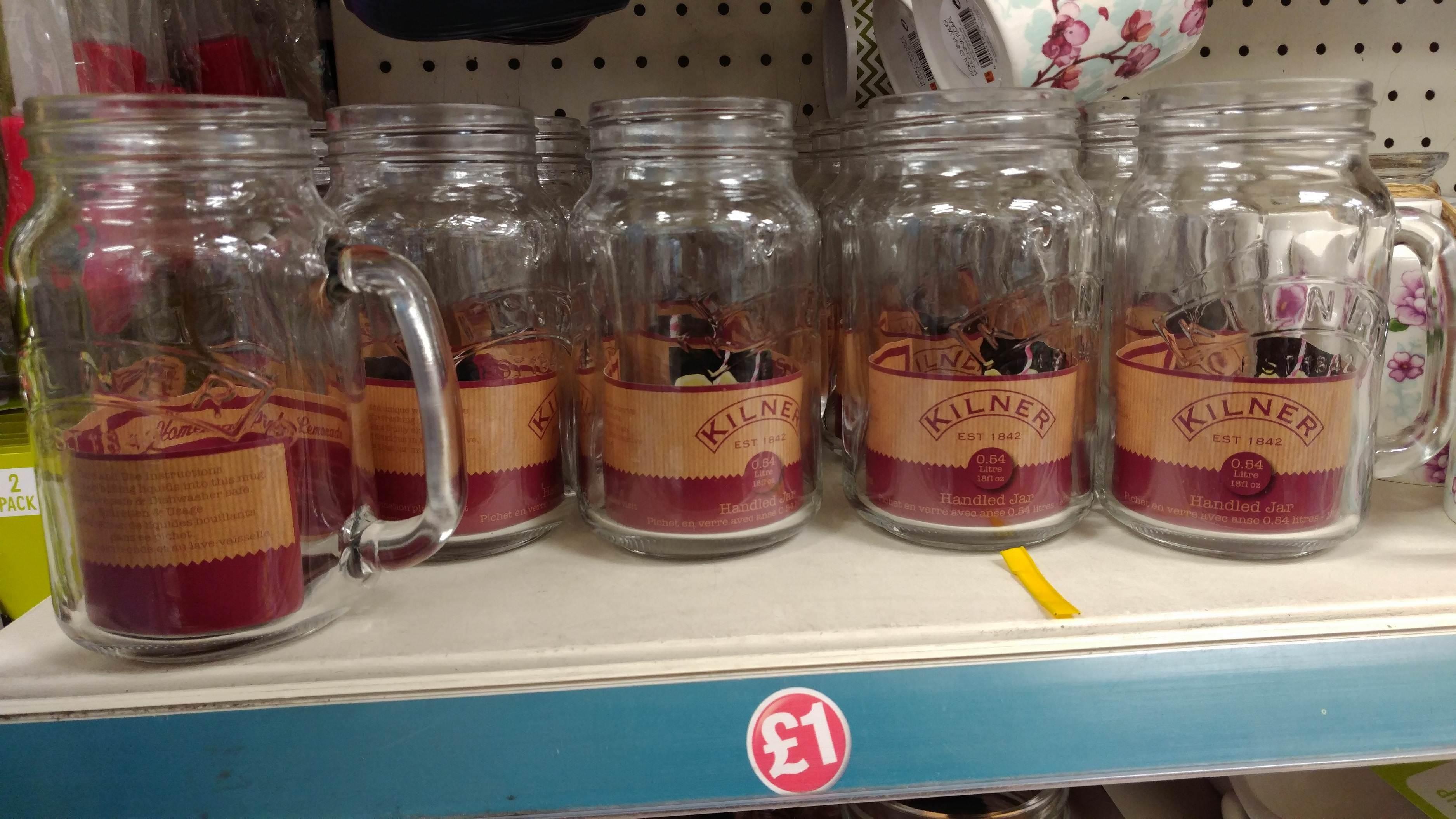 Kilner 0.54L Handled Jar, £1 @ Poundland In Store