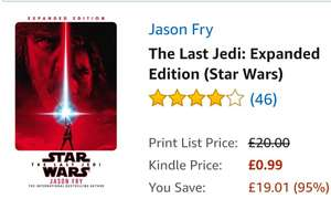 StarWars The Last Jedi (Kindle Edition) 99p @ Amazon