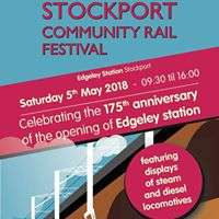 Stockport Community Rail Festival - 175th birthday of station - free - Sat 5 May