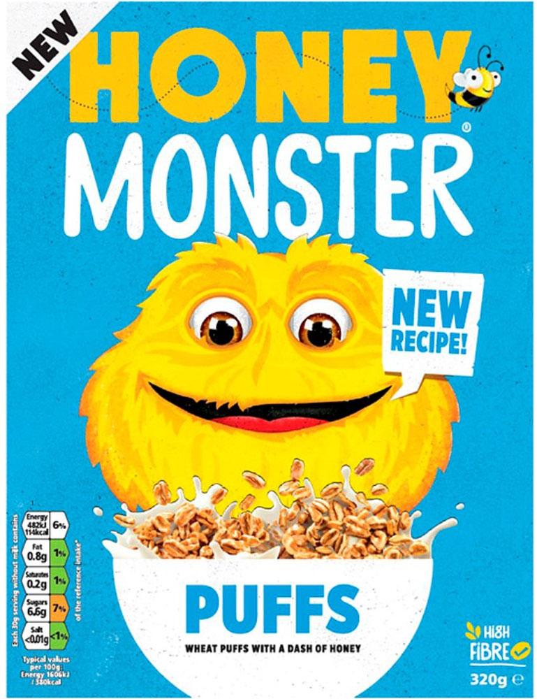Honey Monster Sugar puffs 320g 69p @ B&M stores