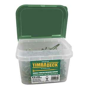 TIMBADECK DOUBLE COUNTERSUNK CARBON STEEL DECKING SCREWS 4.5 X 65MM 500 PACK £9.99 Screwfix