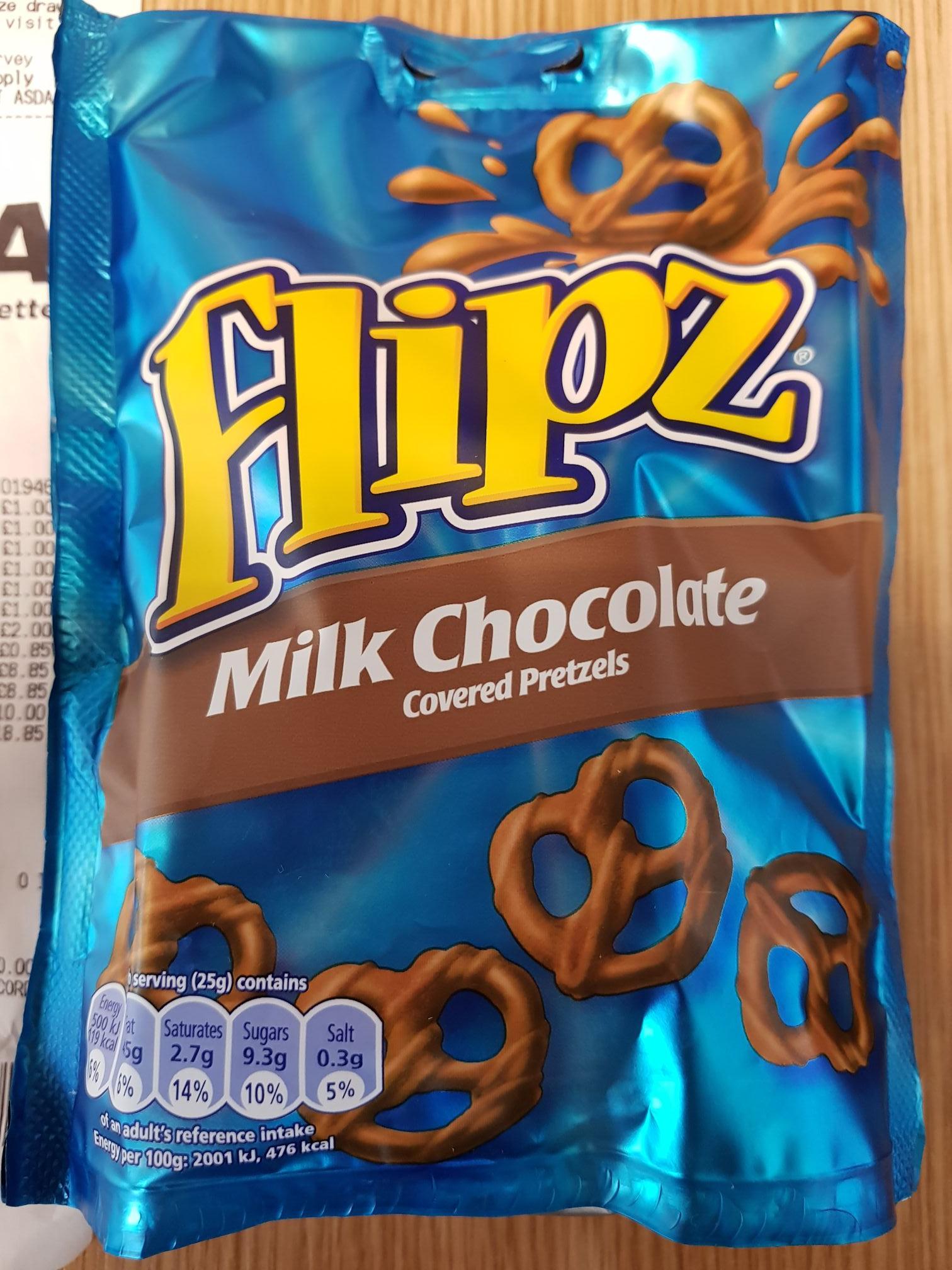 Flipz chocolate pretzels £1.00 asda in-store and online
