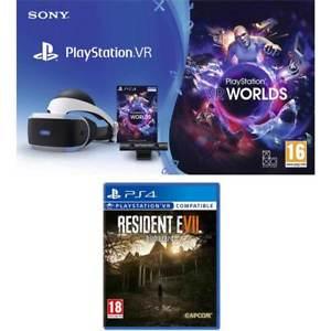 Sony PSVR + Playstation VR Worlds + Resident Evil Biohazard £242.10 @ AO eBay (Using code)