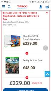 Buy Xbox One 1TB Forza Horizon 3 Hotwheels Console and get Far Cry 5 Free or build your own bundle console+3 games selected games