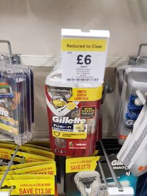 Gillette Fusion Pro shield Razor with Flex ball limited edition - £6 was £24 instore @ Tesco