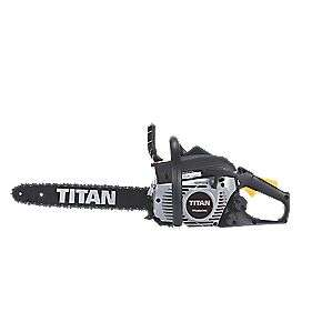 ONE DAY ONLY (Friday 4 May)! Titan petrol Chainsaw at Screwfix for  only £84.99!