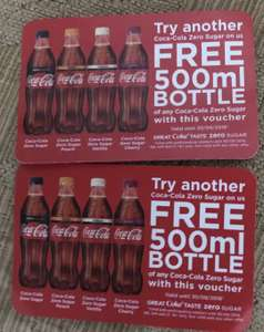 FREE Coke Zero Sugar Min can (150ml) + Voucher For Free 500ml Coke Zero bottle (various flavours) @ Birmingham City Central, by the bullring/ Grand central/ and outside Marks and Spencer's — (+ VARIOUS OTHER PLACES OVER THE UK)