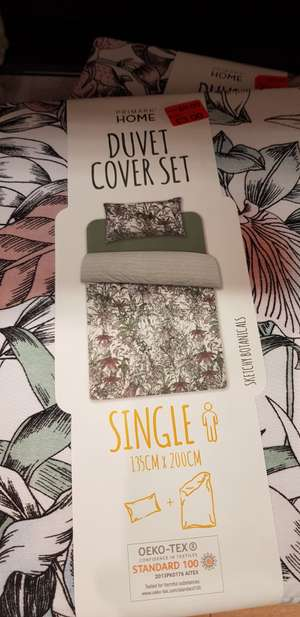 Green & pink leafy single bedspread from primark £3 (seems to be other patterns too) instore