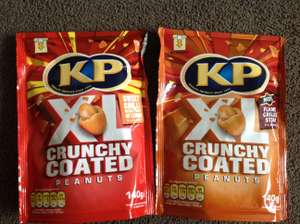 KP XL Crunchy Coated Peanuts 2 Flavours 140g 59p or 2 for £1 Heron