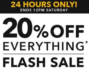 20% off everything Peacocks online for 24 hours