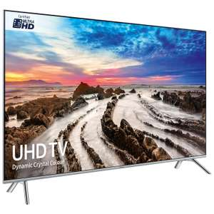 Samsung UE55MU7000 HDR 1000 4K Ultra HD Smart TV, £749 @ John Lewis With 5 Year Guarantee + Football Shirt