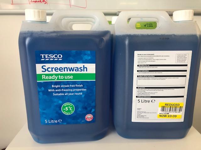 Tesco Screenwash 5L - 9p instore