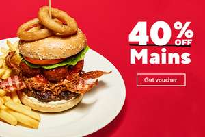 40% off all main meals and 2 for 1 on ALL alcoholic drinks & mocktails plus unlimited breakfast back again @ Frankie and Bennys