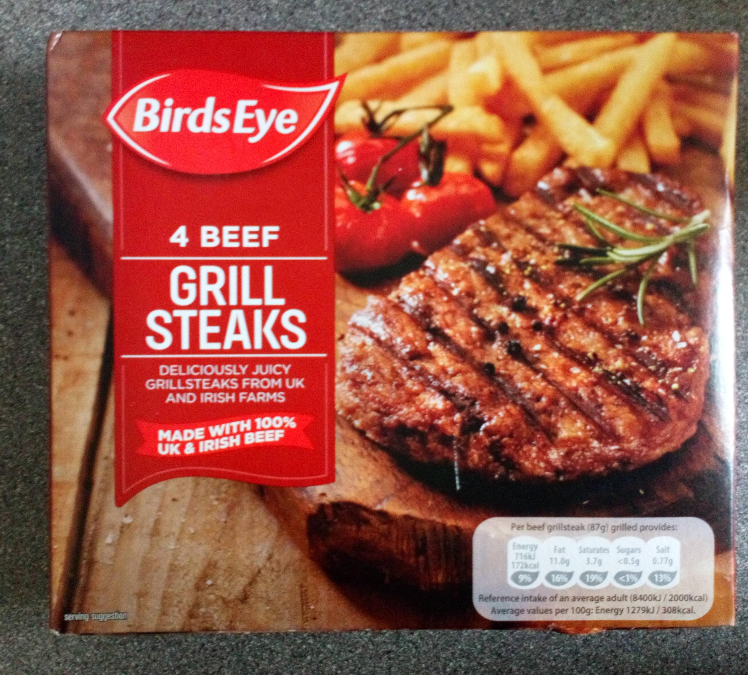 Birds Eye Grill Steaks @Tesco 50p