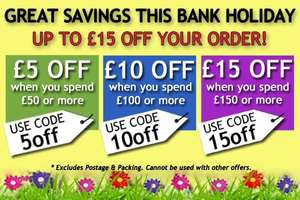 £5 off £50/ £10 off £100 / £15 off £150 Spend on Gardening Products with Code @ Harrod Horticultural