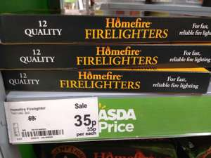Home fire firelighters. 35p Asda