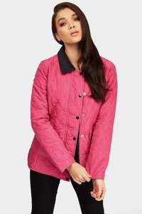 Fuchsia Button Front Quilted Jacket – Now £3!! 5 colours – Delivery £3.99 @ LOTD