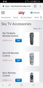 Sky remotes from Sky £8.99 + £1 postage (Star Wars / Game of Thrones & Football Teams)