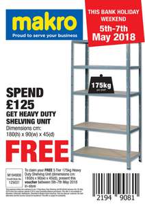 Free heavy duty shelving unit when you spend over 125 makro free heavy duty shelving unit when you spend over 125 makro colourmoves