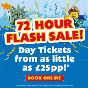 Flash Sale Legoland Windsor tickets £25pp for selected dates between 10th May - 20th July