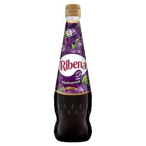 Ribena Blackcurrant 850ml + No added sugar version £1.24 at Tesco