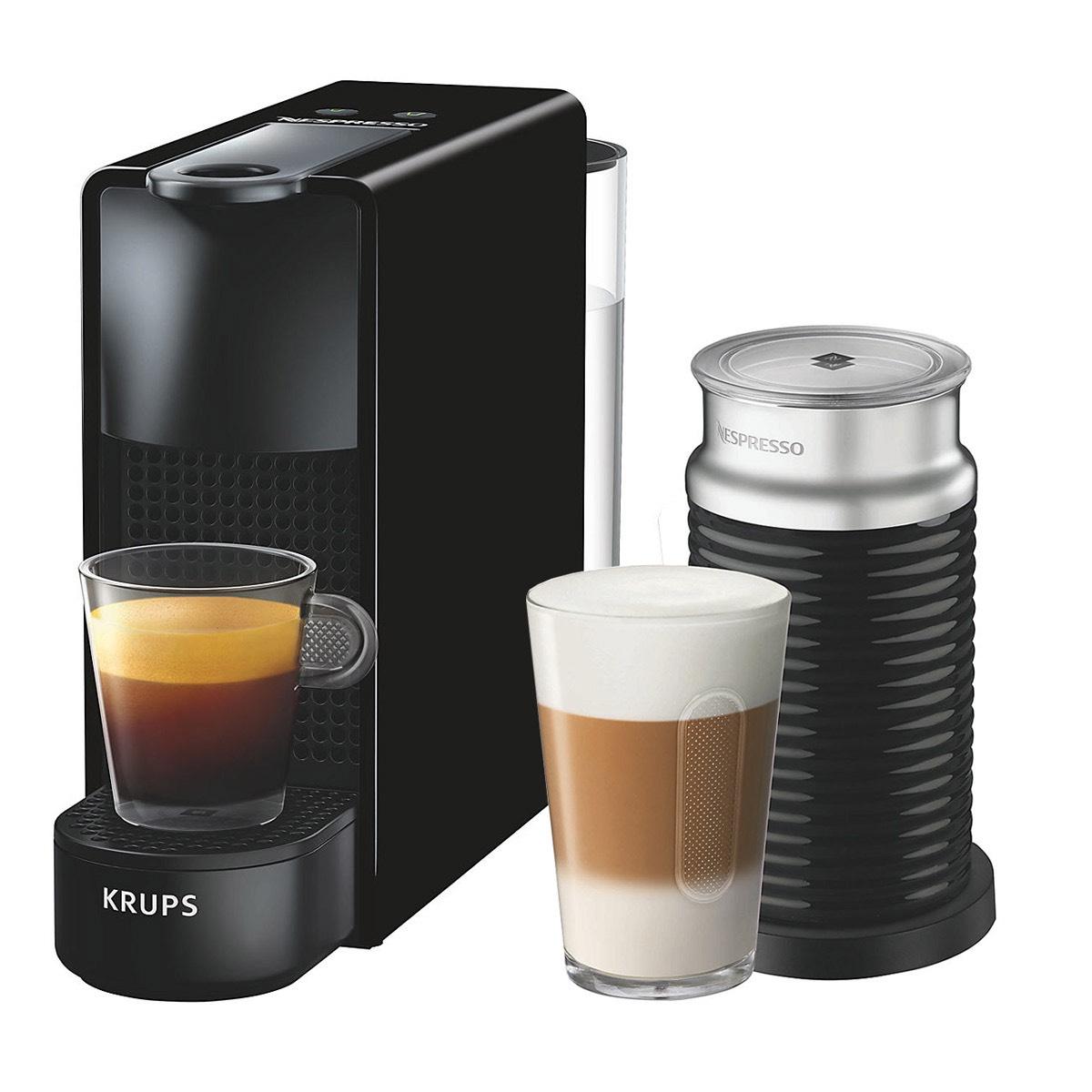 Nespresso Essenza Mini Coffee Machine with Aeroccino by KRUPS, Black - £82.99 @ John Lewis