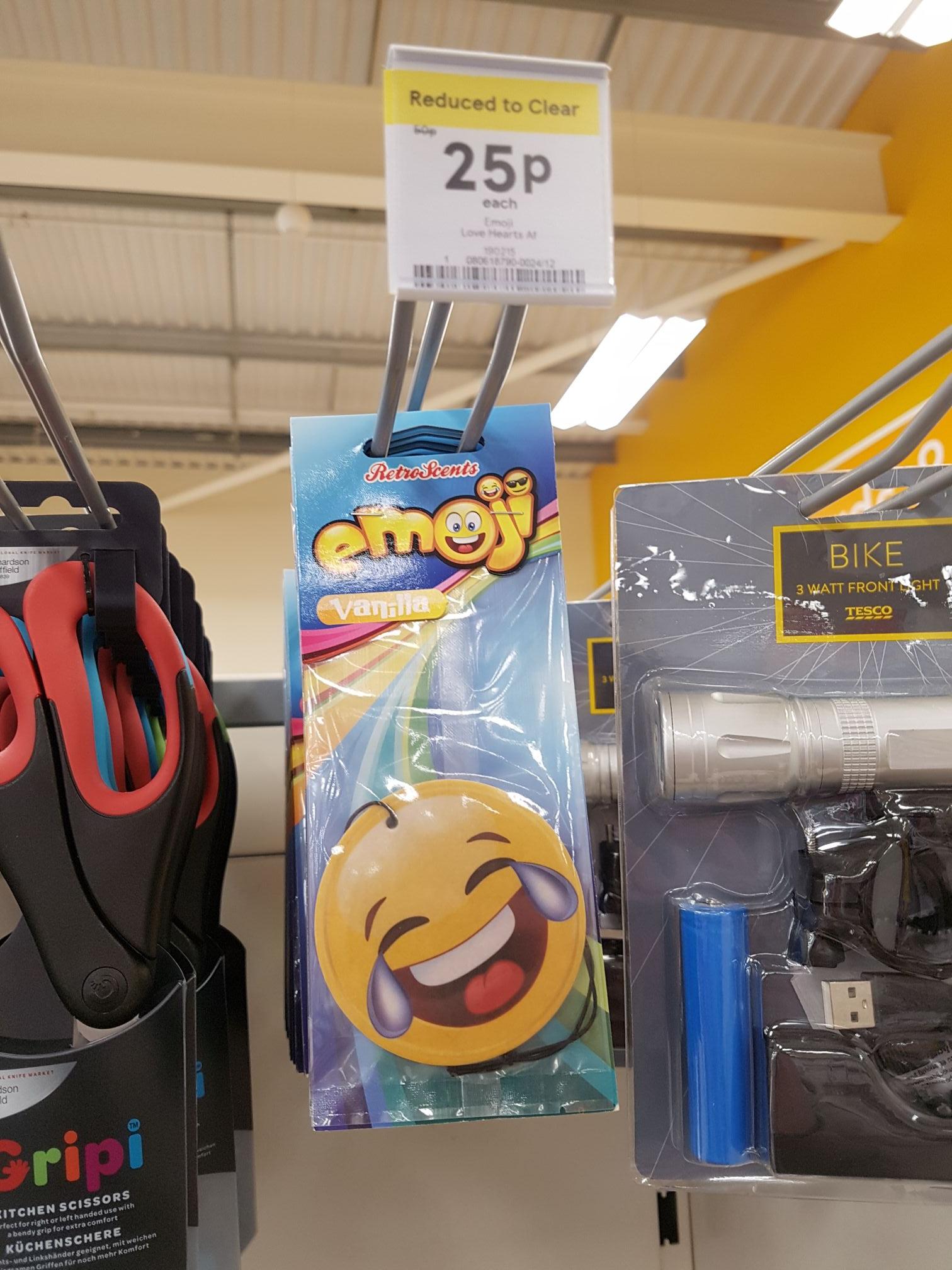 Emoji car air freshener - 25p instore @ Tesco (Liverpool)