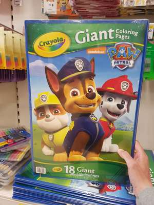 Paw patrol giant colouring pages - 95p instore @ Tesco